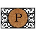 Home & More Circle Monogram Doormat; P