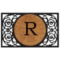 Home & More Circle Monogram Doormat; R