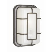 TransGlobe Lighting Outdoor 1 Light Bulkhead Light; Satin Aluminum