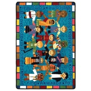 Joy Carpets Educational Essentials VIP Welcome in Many Languages Kids Rug; 2'2'' x 2'10''