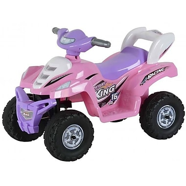Best Ride On Cars Lil Kids Ride On 6V Battery Powered ATV; Pink