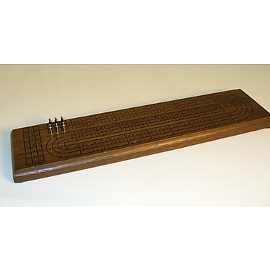 Play All Day Games 3 Track Walnut Stain Cribbage