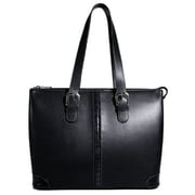Jack Georges Prestige Madison Avenue Tote Bag; Black