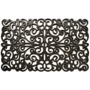 Home & More Scroll Doormat; Silver