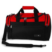J World Copper 18'' Travel Duffel with Shoulder Strap; Red/Black
