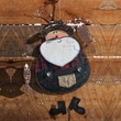 New Creative Winter Lodge, Fishing Santa Wall Decor Christmas Decoration