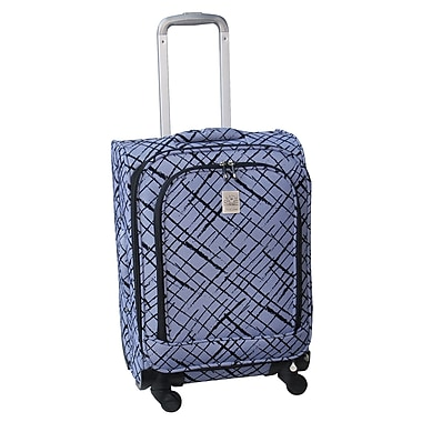 Jenni Chan Brush Strokes 360 Quattro 28'' Upright Spinner Suitcase; Blue