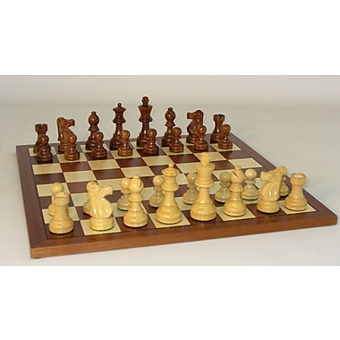 WorldWise Chess Sheesham French-Sapele Chess Set