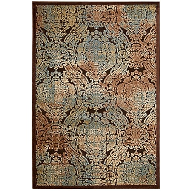 Nourison Graphic Illusions Chocolate Geometric Area Rug; 5'3'' x 7'5''