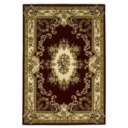 KAS Rugs Corinthian Aubusson Red & Ivory Area Rug; 1'8'' x 2'7''