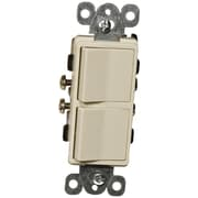 Morris Products  15A-120/277V Commercial Grade Decorator Double Rocker Switch in Ivory