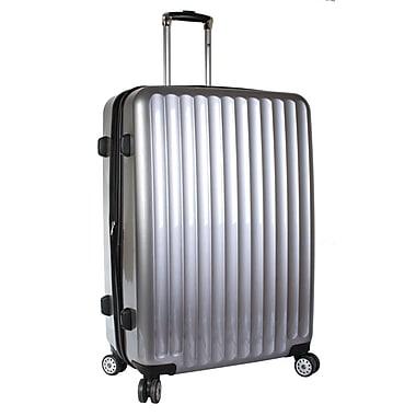 J World Titan 28'' Hardsided Spinner Suitcase; Silver