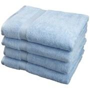 Simple Luxury Superior Egyptian Cotton Bath Towel (Set of 4); Light Blue