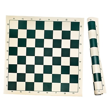 Sunnywood Roll Up Chess Mat; Dark Green