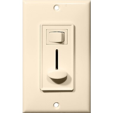 Morris Products Slide Single Pole Dimmer w/ Switch in Almond