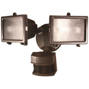 Heath-Zenith Motion Activated 2-Light Flood Light; Bronze Finish