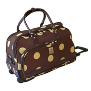 Jenni Chan Dots 22'' Duffel; Brown / Green