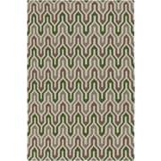Jill Rosenwald Rugs Fallon Spruce Hand-Woven Green Area Rug; 5' x 8'
