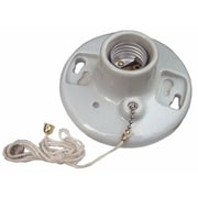 MorrisProducts Porcelain Receptacles Pull Chain 6'' Lead