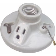 Morris Products Porcelain Receptacles Pull Chain with Outlet Screw Terminals