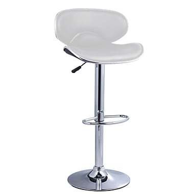 Pangea Home Phil 24'' Adjustable Bar Stool  (Set of 2); White
