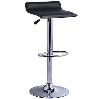 Pangea Home Pax 24'' Adjustable Bar Stool  (Set of 2); Black