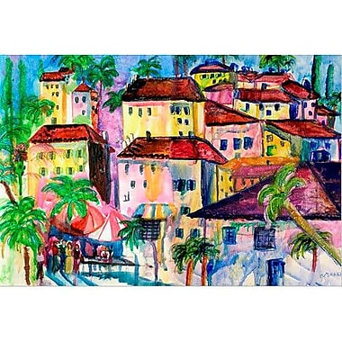 Betsy Drake Interiors Garden Fun City I Painting Print on Wrapped Canvas