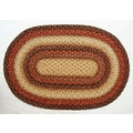Green World Rugs Russet Rug; Oval 4' x 6'
