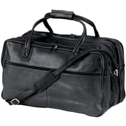 Andrew Philips 24'' Vaqueta Napa Leather Duffel; Black