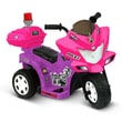 Kidz Motorz Lil Patrol 6V Battery Powered Motorcycle; Pink and Purple