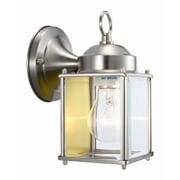 Design House Coach 1 Light Outdoor Wall Lantern; Satin Nickel