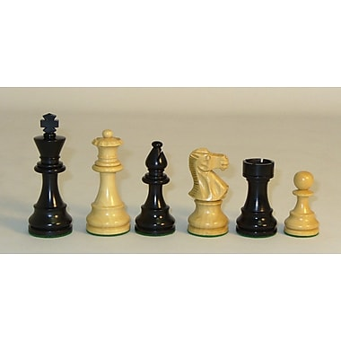 Checkmate Black and Natural Lardy Classic Chessmen