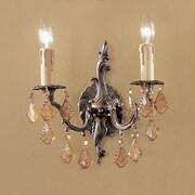 Classic Lighting Parisian 2 Light Wall Sconce; Italian Rock Amber