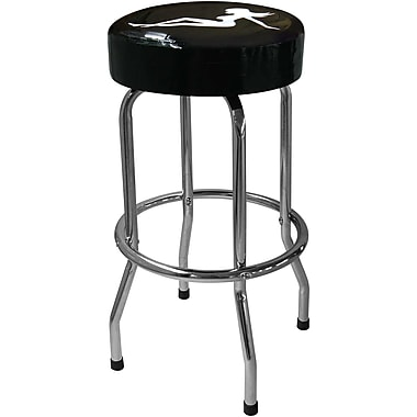 On The Edge Marketing Lady Silhouette 30'' Bar Stool with Cushion