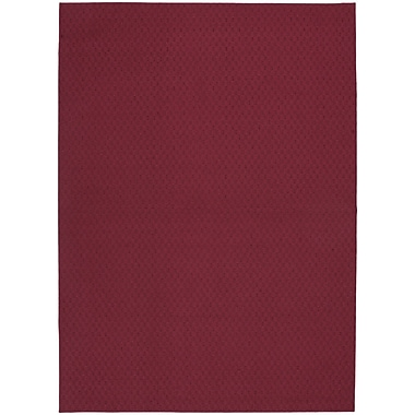 Garland Rug Chili Red Town Square Area Rug; 7'6'' x 9'6''