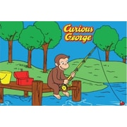 Fun Rugs Curious George Fishing Kids Rug; 1'7'' x 2'5''