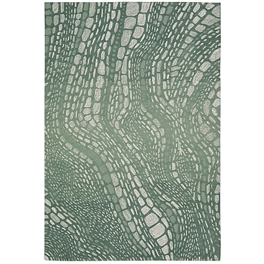 Kathy Ireland Home Gallery Palisades Lava Flow Aqua Area Rug; 5' x 7'6''