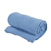 Saro Chenille Throw; Blue