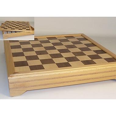 WorldWise Chess 18'' Inlaid Beechwood Chest Chess Board