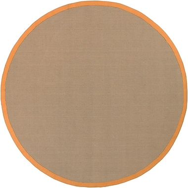 Chandra Bay Orange/Tan Area Rug; Round 7'9''