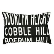 Uptown Artworks Brooklyn Heights Linen Lumbar Pillow