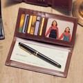 Winn International High Polished Cowhide Aniline Leather Checkbook / Secretary; Bordo