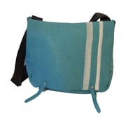 Mulholland Brothers High and Mighty Messenger Bag; Aqua / White Stripes / Black Strap