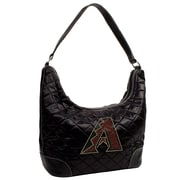Little Earth MLB Sport Noir Quilted Hobo Bag; Detroit Tigers