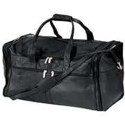 Andrew Philips 22'' Vaqueta Napa Leather Large Duffel; Black