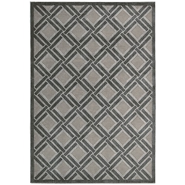 Nourison Graphic Illusions Grey Geometric Area Rug; 7'9'' x 10'10''