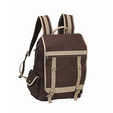 Preferred Nation Expresso Laptop Backpack; Brown