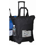 Preferred Nation On The Go Rolling Shopping Tote; Black