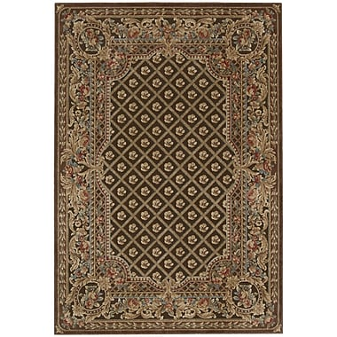 Kathy Ireland Home Gallery Villa Retreat Garden Romance Chocolate Area Rug; 5'3'' x 7'5''
