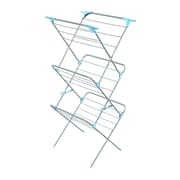 Minky Homecare Three Tier Trio Concertina Plus Indoor Drying Rack in Silver